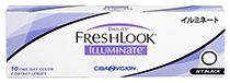 Dailies® FreshLook® Illuminate™ 10 ks Jet Black - nedioptrické