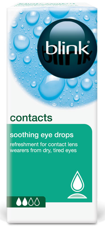 AMO Blink contacts soothing eye drops 10 ml zakřivení: 9.0, dioptrie: +1.00, průměr: -