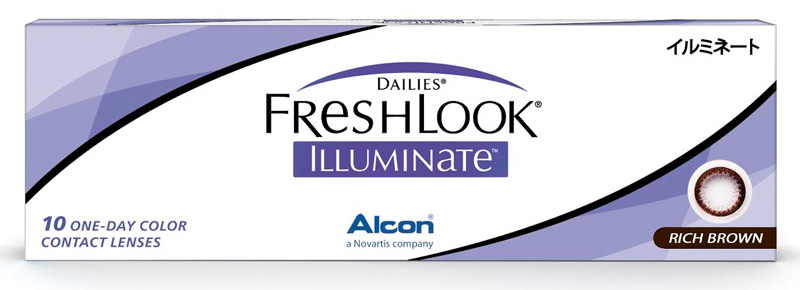 Dailies® FreshLook® Illumiante™ 10 ks Rich Brown - dioptrické