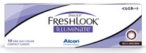 Dailies® FreshLook® Illumiante™ 10 ks Rich Brown - nedioptrické